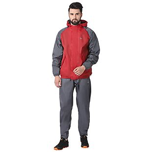 Wildcraft Hypadry Unisex Rain Jacket Suit 2 Tone - Red
