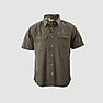 Wildcraft Wildcraft Men Half Sleeve Solid Cotton Shirt - Dark Olive